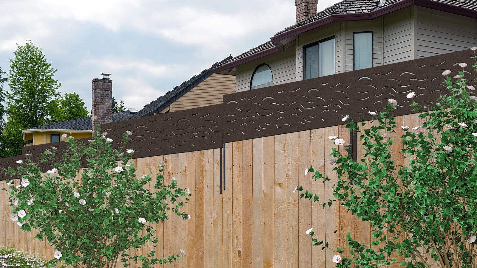 Modinex VIBE panel installed on backyard fence